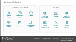 Icons on main page of eLibrary - search by Assignment or Subject